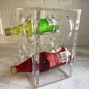 Other - Retro Acrylic Bottle Rack